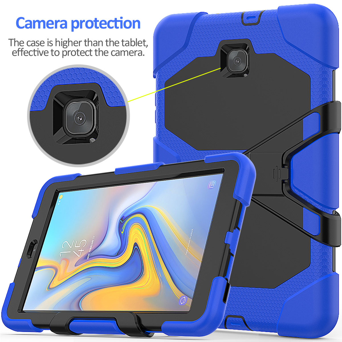 Rugged-Hard-Case-For-Samsung-Galaxy-Tab-A-8-0-2018-SM-T387-with-Screen-Protector thumbnail 79