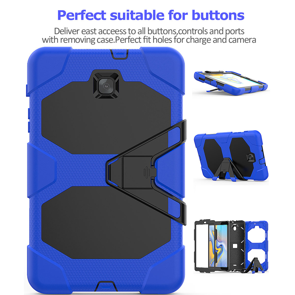 Rugged-Hard-Case-For-Samsung-Galaxy-Tab-A-8-0-2018-SM-T387-with-Screen-Protector thumbnail 81