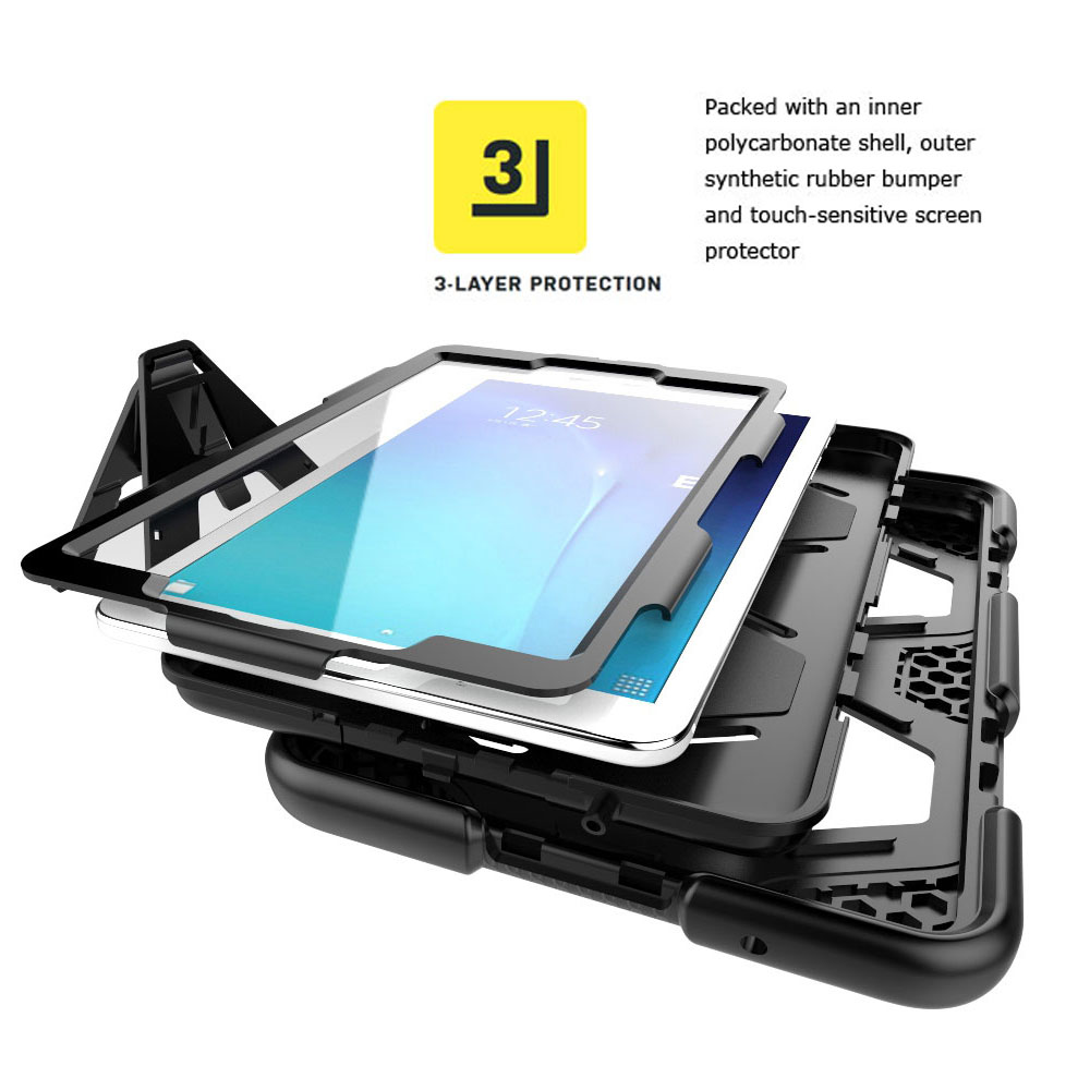 buy online 41aaa c023c Details about Military Shockproof Rubber Stand Case Cover Fr Samsung Galaxy  Tab A 7