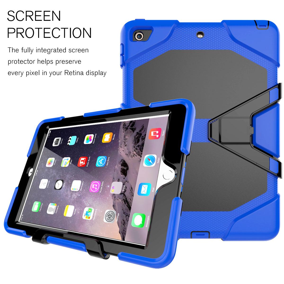 shockproof rubber hard stand tablet case cover for apple. Black Bedroom Furniture Sets. Home Design Ideas