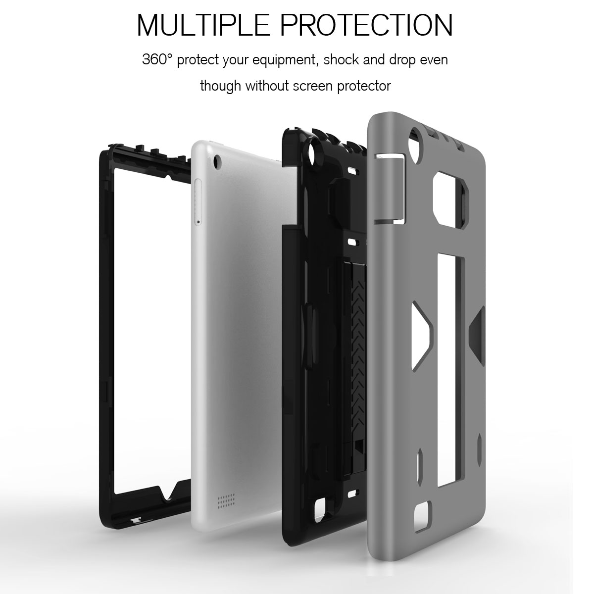 Hybrid rubber shockproof armor hard case for amazon kindle for Amazon casa