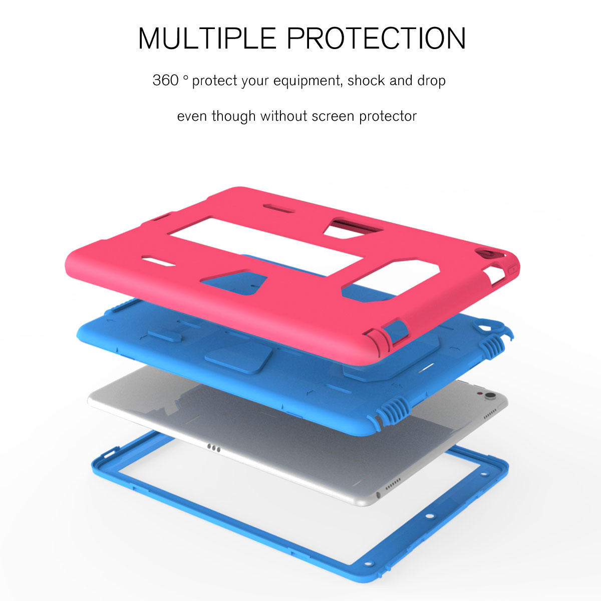 Shockproof-Hybrid-Rubber-Rugged-Case-Cover-For-iPad-9-7-5th-Gen-A1822-A1823-2017 thumbnail 45