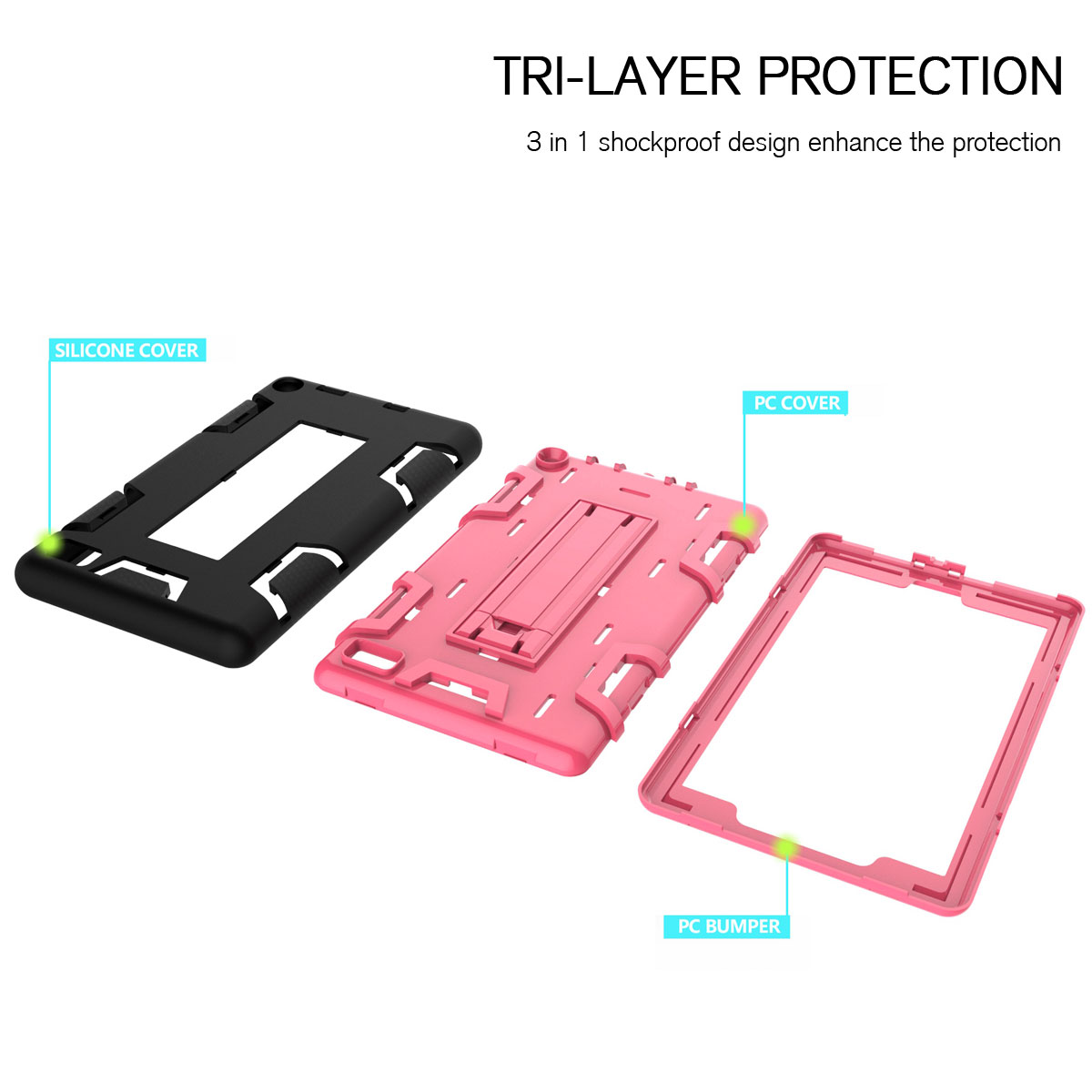Details about Waterproof Dirt Shockproof Hard Full Case For Amazon Kindle  Fire 7 2017 7th Gen