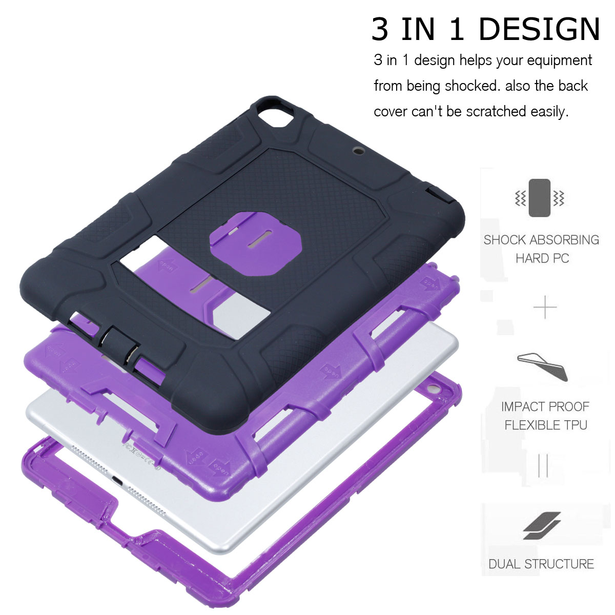 Heavy-Shockproof-Rubber-Stand-Case-Cover-For-Apple-iPad-234-5-Mini-Air-Pro-9-7-034 thumbnail 23