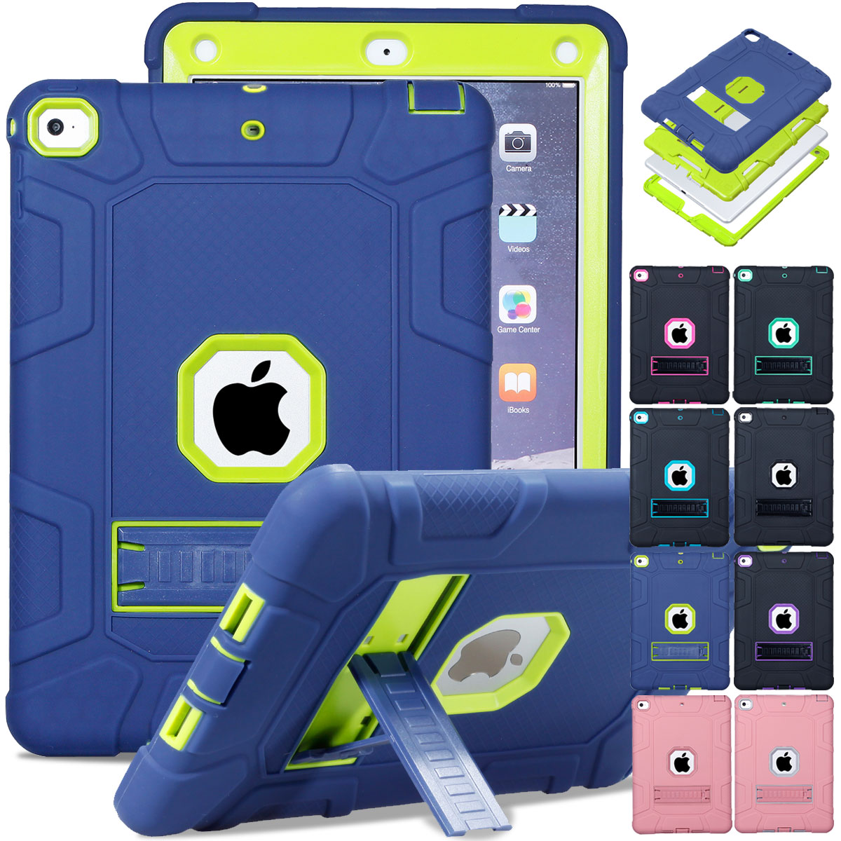 "For Apple iPad 6th Generation 9.7"" 2018 Shockproof 360° Ful"