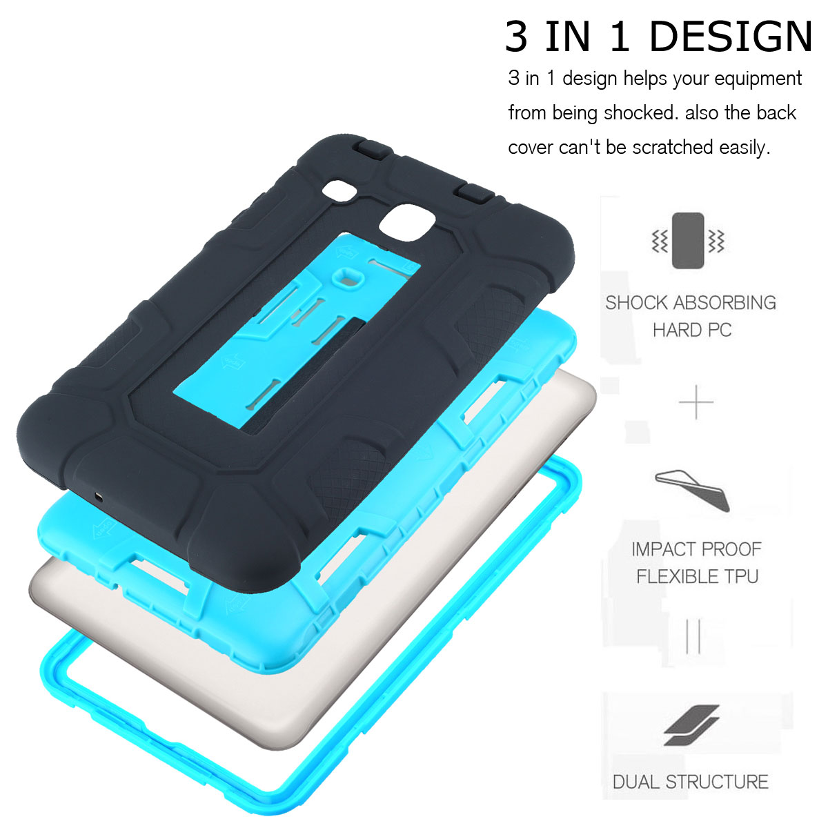 release date a3dec 36b4a Details about Shockproof Hybrid Stand Case Full Body Cover For Samsung  Galaxy Tab S2 9.7 8.0