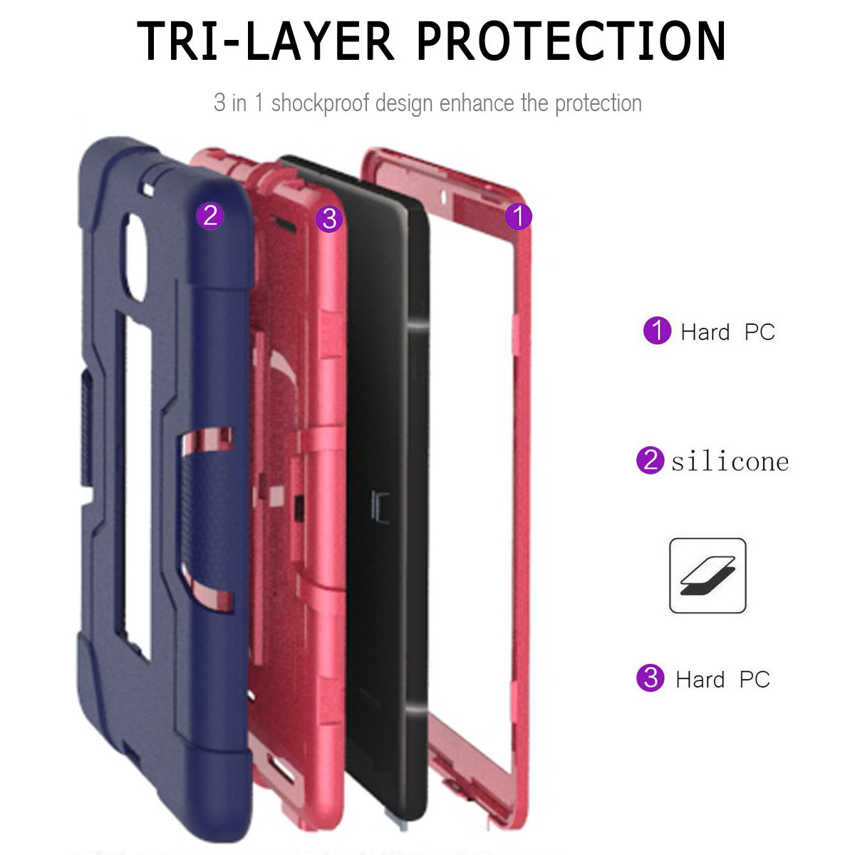 Hybrid-Shockproof-Impact-Case-Cover-For-Samsung-Galaxy-Tab-A-8-0-2018-SM-T387 thumbnail 36