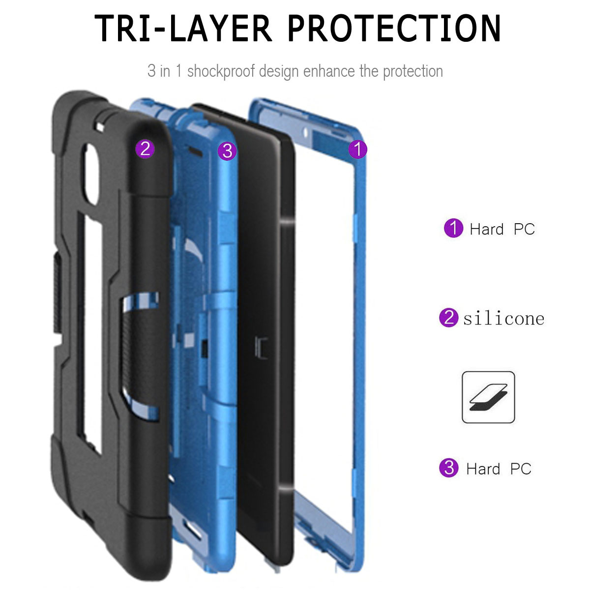 Hybrid-Shockproof-Impact-Case-Cover-For-Samsung-Galaxy-Tab-A-8-0-2018-SM-T387 thumbnail 60