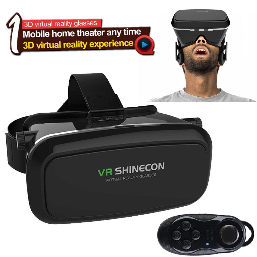 3d virtual reality glasses vr headset controller for. Black Bedroom Furniture Sets. Home Design Ideas